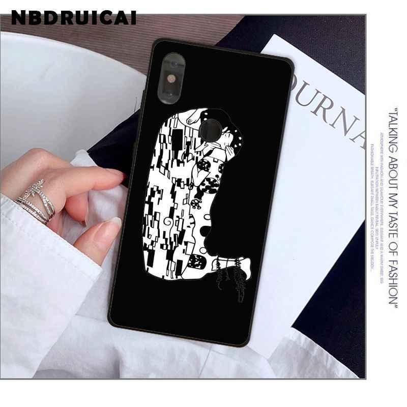 NBDRUICAI Kiss de Gustav Klimt, funda de teléfono para Xiaomi de silicona de alta calidad 8 9 se 5X Redmi 6pro 6A 4X 7 5plus note 5 7 6pro
