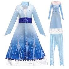 แช่แข็ง 2 Elsa Annaสาวคริสต์มาสชุดคริสต์มาสชุดสาวชุดเจ้าหญิงชุดVOCALOIDคอสเพลย์อะนิเมะ