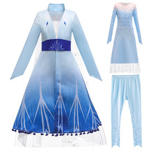 Frozen 2 Elsa Anna girls sukienka świąteczna sukienka świąteczna dziewczyny sukienki księżniczka sukienka vocaloid cosplay kostium anime