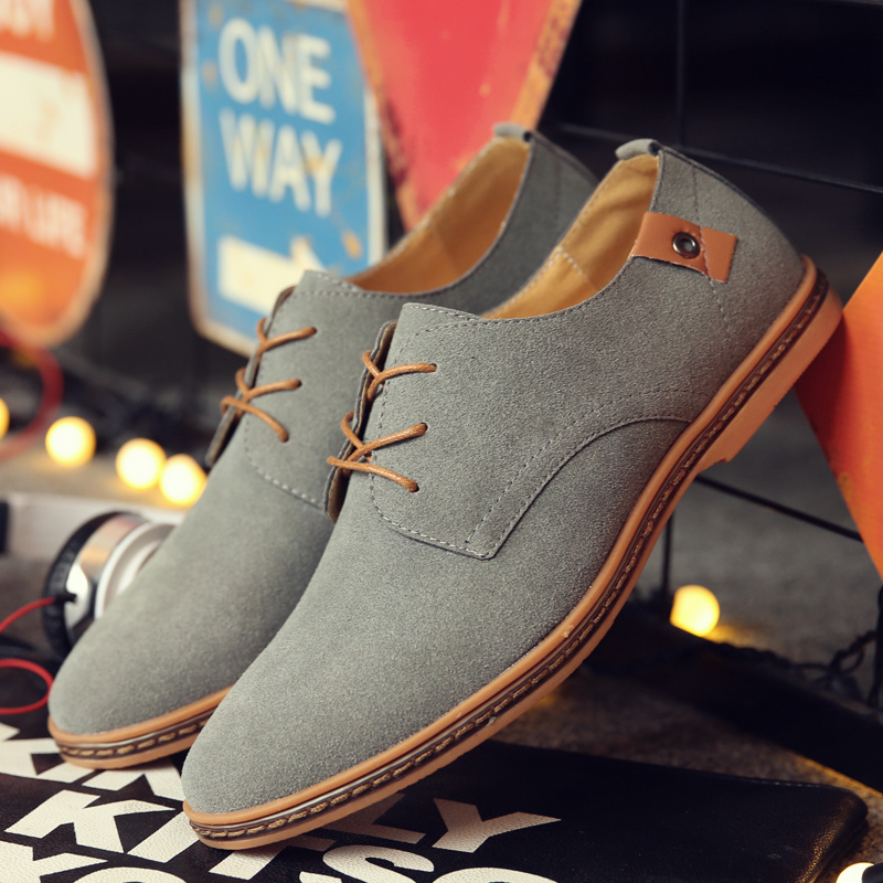 2020 Spring Suede Leather Men Shoes Oxford Casual Shoes Classic Sneakers Comfortable Footwear Dress Shoes Large