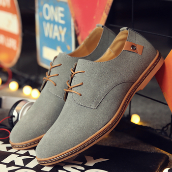 2020 Spring Suede Leather Men Shoes Oxford Casual Shoes Classic Sneakers Comfortable Footwear Dress Shoes