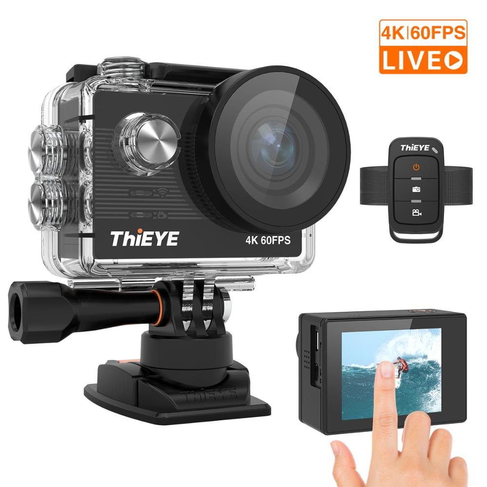 ThiEYE T5 Pro <font><b>Ultra</b></font> <font><b>HD</b></font> <font><b>4K</b></font> 60fps Touch Screen <font><b>WiFi</b></font> <font><b>Action</b></font> Kamera Fernbedienung 60m wasserdichte cam mit EIS zu <font><b>4K</b></font> Sport Kamera image