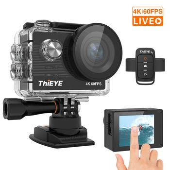 ThiEYE T5 Pro ultra hd 4K 60fps ekran dotykowy WiFi kamera akcji pilot 60m wodoodporna kamera z EIS at 4K kamera sportowa tanie i dobre opinie SONY IMX078 (1 2 3 12 4 MP) ICatch V50 (4 K 30FPS) O 20MP 1100mAh 1 2 3 cali For Home Semi-professional Extreme Sports