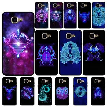 FHNBLJ Zodiac Signs Phone Case for Samsung A6 A8 Plus A7 A9 A20 A20S A30 A30S A40 A50 A70 image