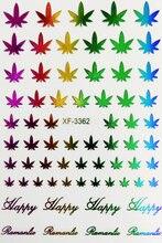 1 лист красочные наклейки для ногтей и (очаровательные лазерные