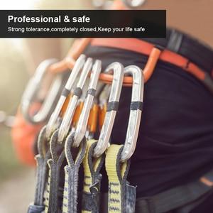 Image 5 - Professional Climbing Carabiner Snap BulkคลิปการบินอลูมิเนียมHookกลางแจ้งMasterอุปกรณ์ป้องกันโหลดสูงสุด