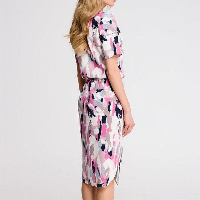 Dress 2020 Boho Print Short Sleeve  1