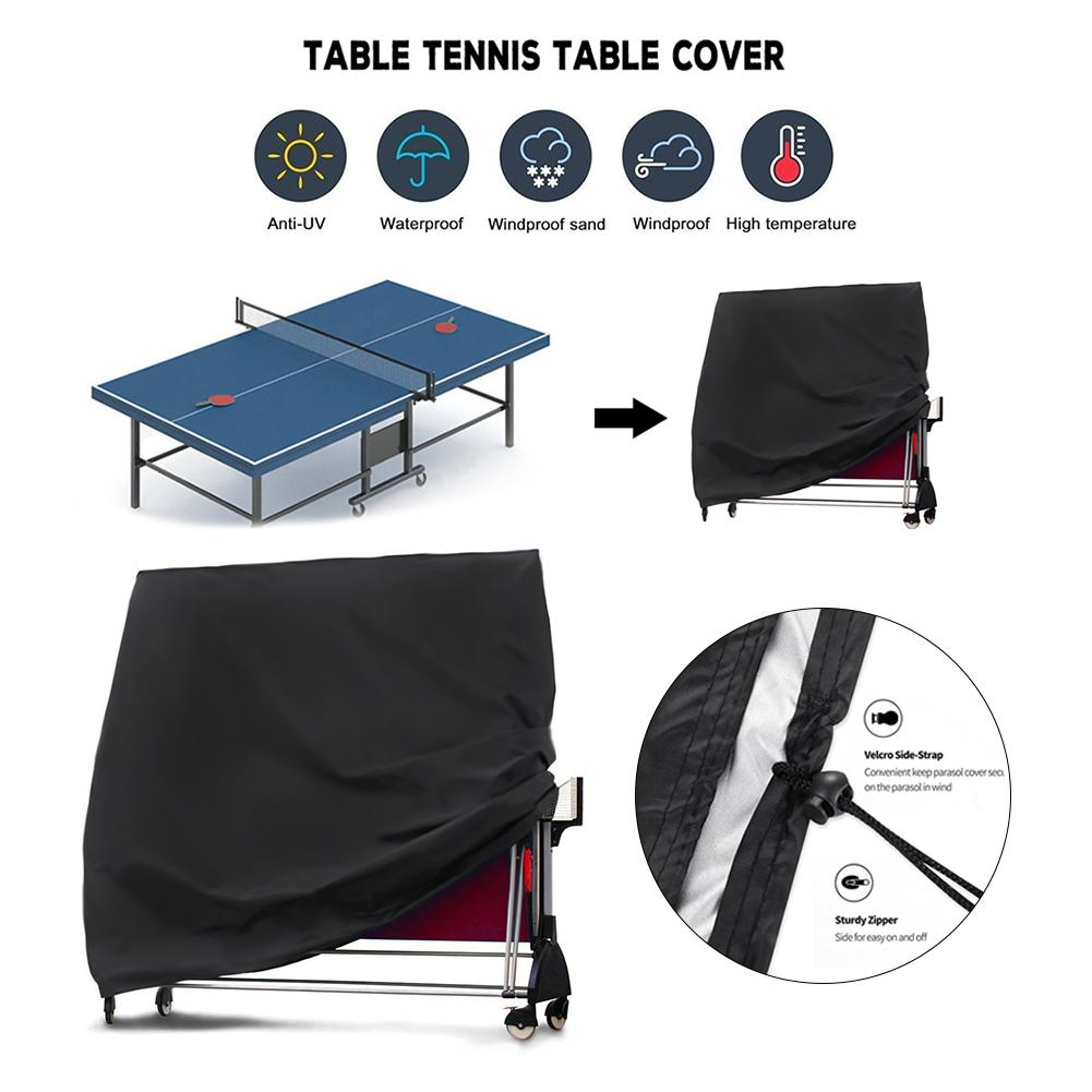 Outdoor Sports Ping Pong Table Cover Weatherproof Table Tennis Table Covers UV Protection Waterproof Moisture-proof Dust Cover