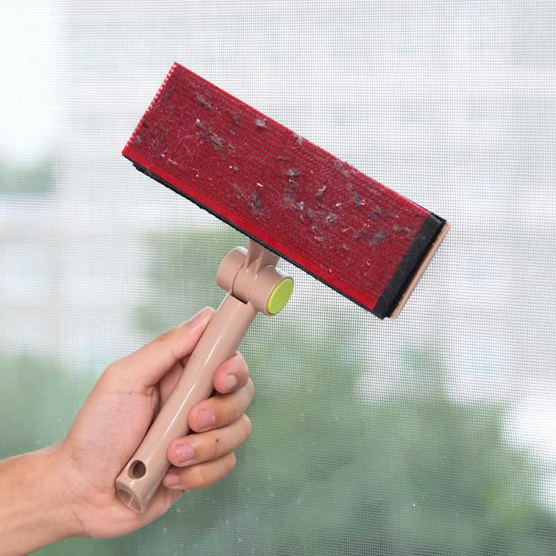 Rotatable Handle Brush Window Cleaner Cleaning Brush for Washing Windows Carpet Mesh Home Cleaning Brush Glass Wiper Squeegee image
