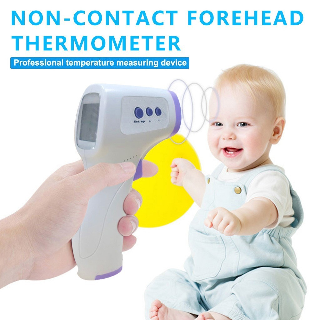 Lcd Non-contact Forehead Thermometer Digital Infrared Body Temporal Thermometer Fever Digital Measure Tool for Baby Adults