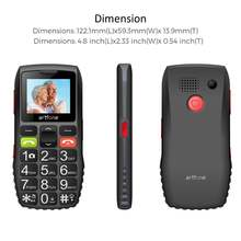 Artfone c1 большая кнопка мобильный телефон для пожилых людей