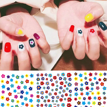 1 Sheet INS Style Spring Flowers DIY Stickers Nail Art Tips Colorful Wrap Decals Manicure Tools Sticker Decorations