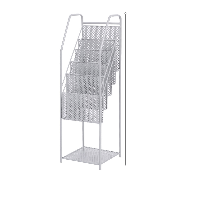 art living room multi-layer magazine book and newspaper shelf simple floor rack newspaper and newspaper data frame storage rack