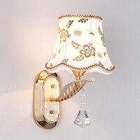 Ganeed One-Licht Wandleuchter Licht Led Lampe mit Tuch Lampenschirm für Wohnzimmer Schlafzimmer Korridor Home Beleuchtung Dekoration