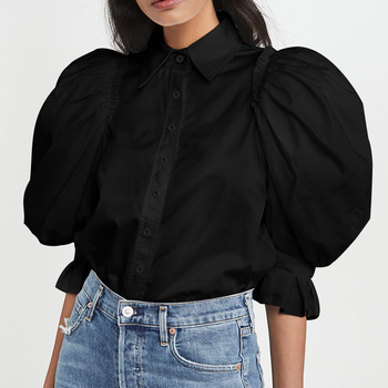VONDA 2020 Women Blouses And Tops Casual Turn Down Neck Half Sleeve Party Shirts Plus Size Long Lantern Sleeve Shirts 5XL Blusas new plus size women tops blouses long sleeve button turn down collar contrast color spring autumn casual ladies shirts blusas