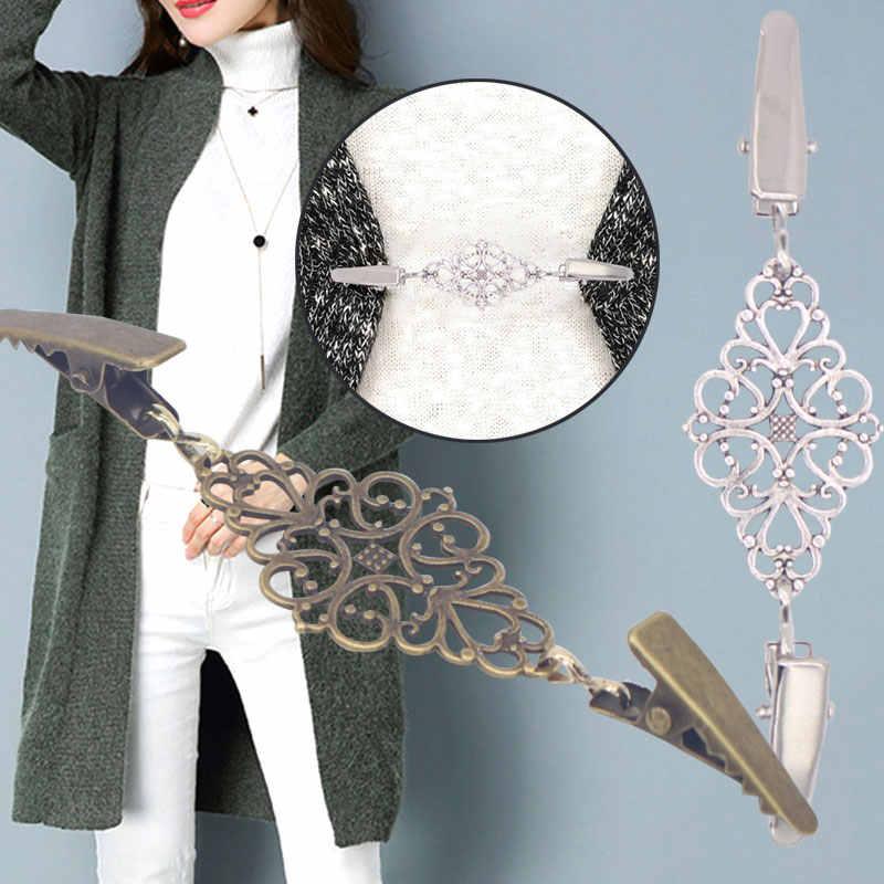 Wanita Syal Blus Kemeja Selendang Sweater Cardigan Koneksi Gesper Sweater Klip Selendang Klip Syal Sweater Klip Perhiasan