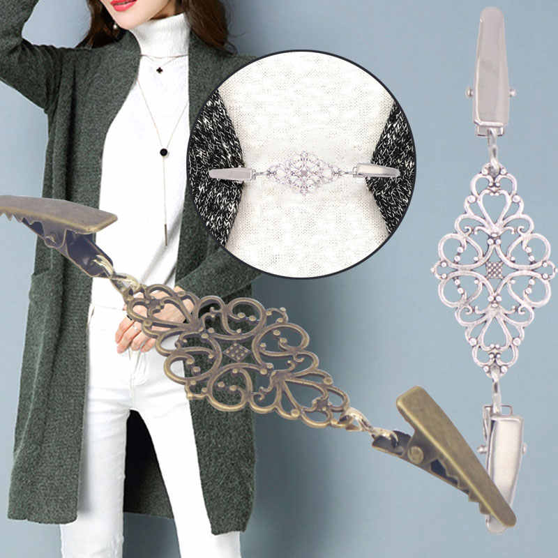 women Scarves blouse Shirt Shawl Sweaters Cardigan connection buckle Sweater clip Shawl clip Scarves Sweater clip Jewelry