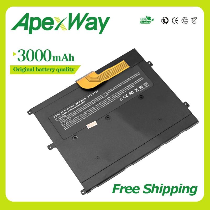Apexway 11.1V 3000mAh Laptop Battery For DELL Vostro V13  V13Z  V130 V1300 0NTG4J 0PRW6G 0449TX PRW6G T1G6P