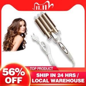 Image 1 - Ondas curling modelador de cabelo profissional cuidados com o cabelo & ferramentas de estilo onda modelador de cabelo curling ferros crimper krultang ferro 5
