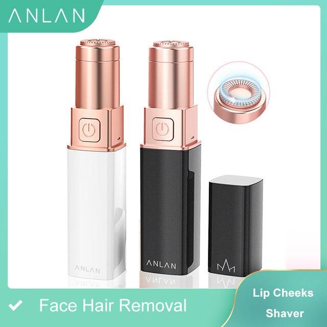 Electric Epilator Women Painless Hair Removal Female Upper Lip Cheeks Shaver Face Hair Remover Bikini Shaver Lipstick Style