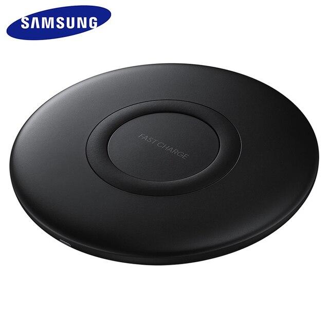 SAMSUNG EP P1100 S10 Fast QI Wireless Charger 10วัตต์สำหรับGalaxy S10 Pixel 3 4 XLสำหรับSONY Xperia Z3V Z4V XZ 2 3