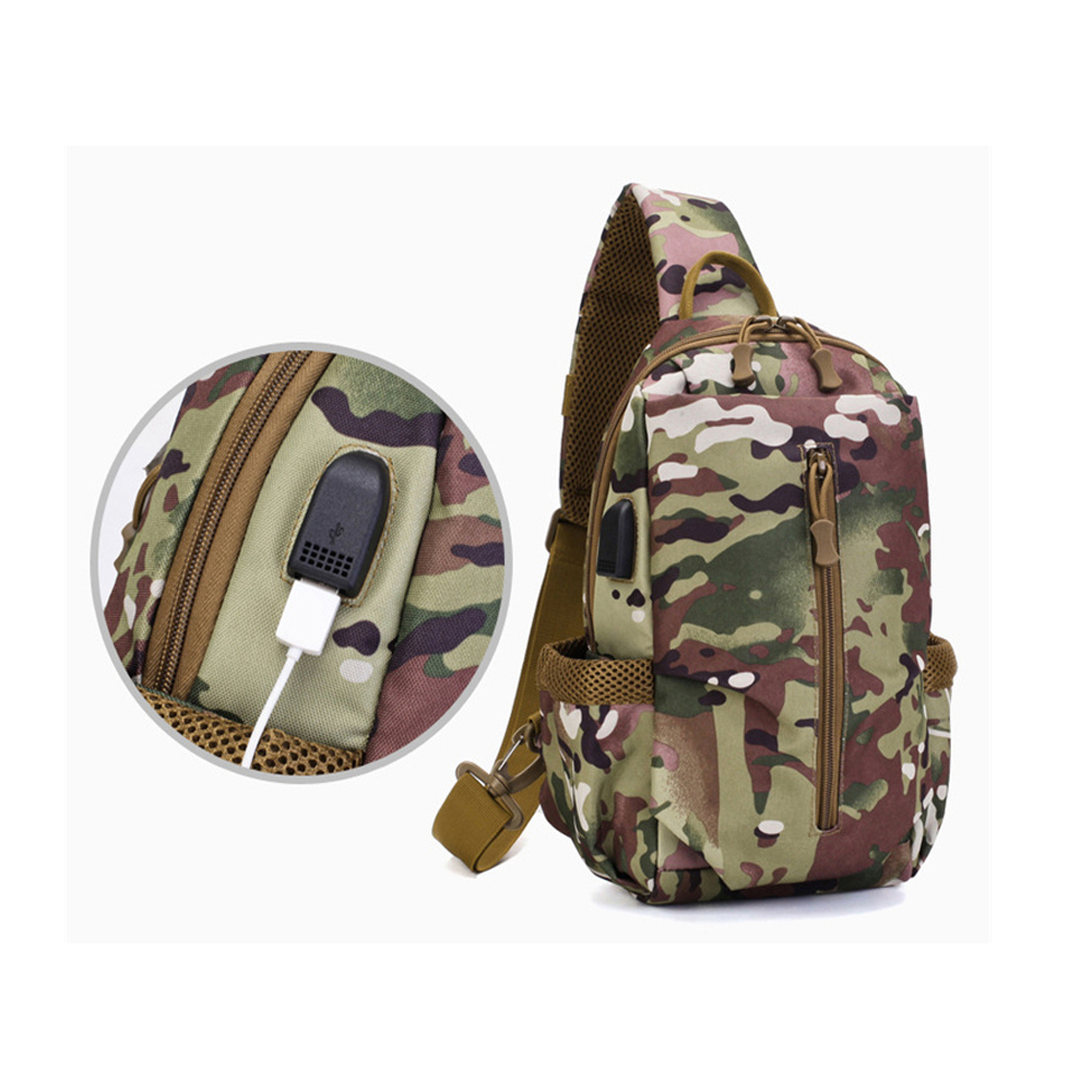 Chest Bag Single Shoulder Camping Backpack Waterproof  Military Tactical Sports Bags Outdoor Hiking Army Mochlia Molle Camo Sack