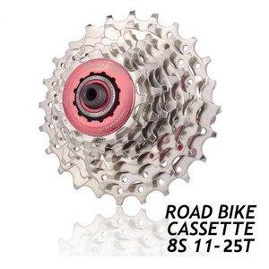 New 8-Speed Mountain Bike 11-25T Black Silver Bike Cassette Flywheel MTB Bicycle Cassette Flywheel Sprocket
