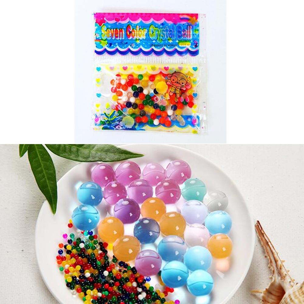 5 sacos/lote cristal solo lama gel crianças crianças brinquedo água grânulos crescer bolas de água casamento casa vasos decoração