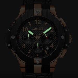 Image 5 - BAOGELA marque hommes montre Quartz montre or bande de caoutchouc 3ATM résistant à leau chronographe hommes Quartz 1909
