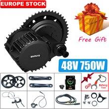 Bafang, kit de motor elétrico para bicicleta bbs02, 48v, 750w, motor de bicicleta elétrico, bbs02b, kit de conversão 8fun, bicicleta elétrica motor poderoso, motor poderoso