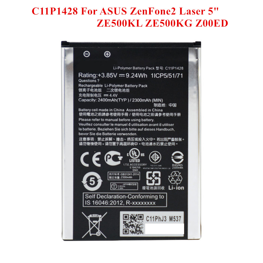 100% New <font><b>Battery</b></font> C11P1428 <font><b>For</b></font> <font><b>ASUS</b></font> <font><b>ZenFone</b></font> <font><b>2</b></font> <font><b>Laser</b></font> <font><b>ZE500KL</b></font> 5