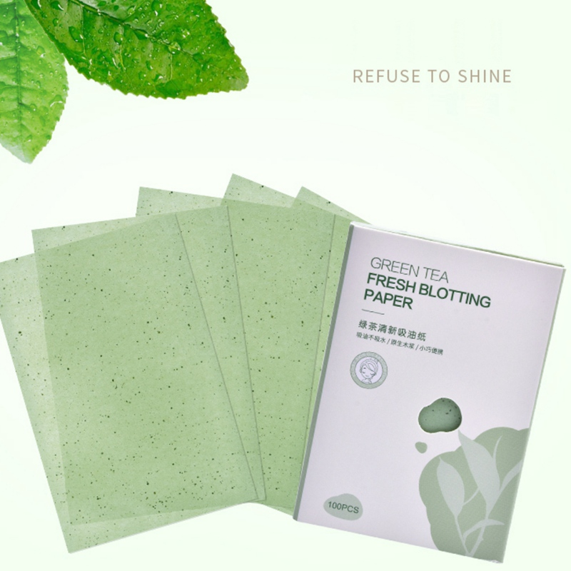100 Sheets Facial Care Oil Control Film Blotting Paper Refreshing Oil-Absorbing Sheets