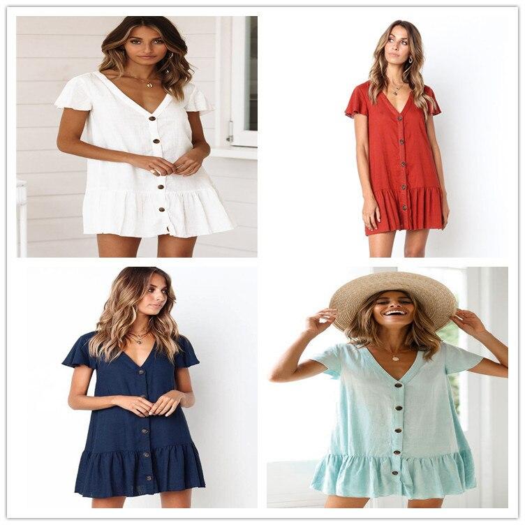 Hot Selling Rayon Slub Fabric Single Breasted Beach Skirt Holiday Skirt Bikini Outer Blouse Sun-resistant Cardigan Skirt