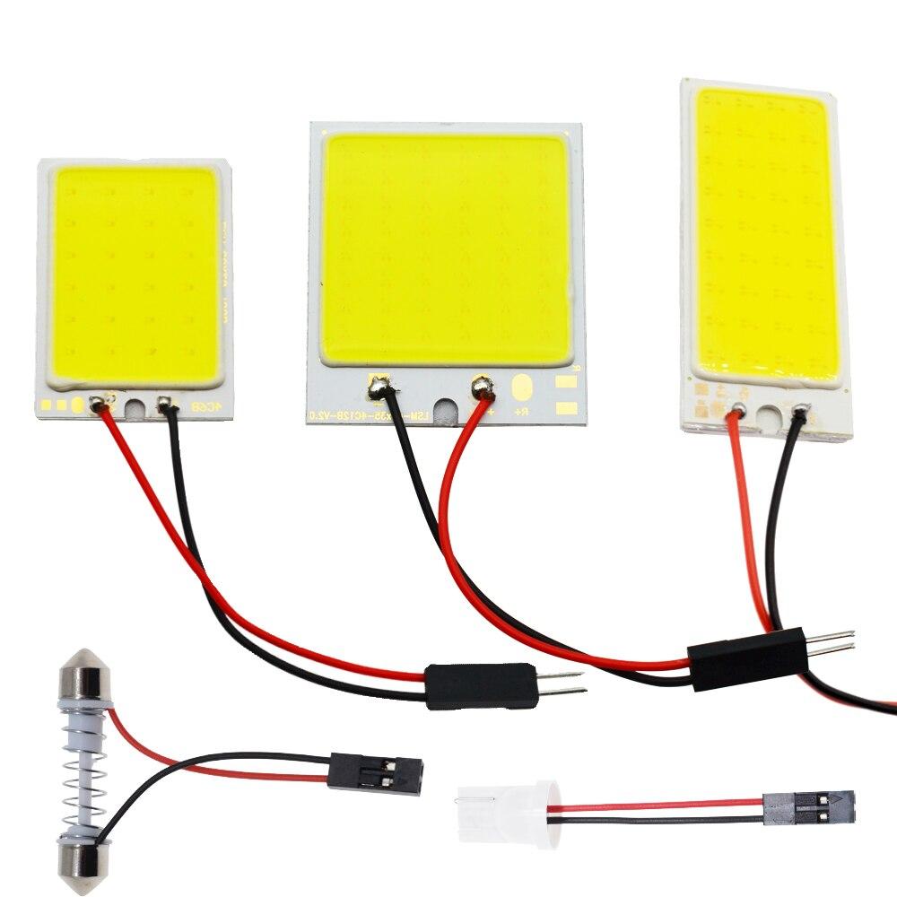 C5W koçanı 24 36 48SMD çip beyaz okuma lambası led T10 araba Led park ampul oto İç Panel AYDINLATMA Festoon lisansı plaka ışıkları