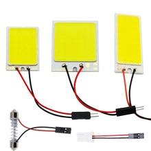 C5w cob 24 36 48smd chip branco lâmpada de leitura led t10 carro led estacionamento lâmpada do painel interior do automóvel festão luzes da placa licença