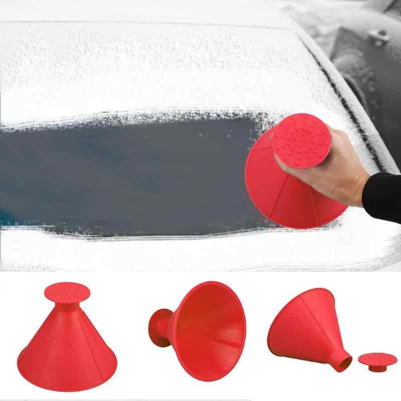 Buz kazıyıcı oto araba pencere camı temizleme aracı sihirli cam kar temizleyici huni koni kürek şeklinde açık temizleme araçları