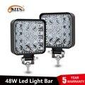 OKEEN led licht bar 48W barra led 16LED 12V 24V led Auto Licht Für 4x4 led bar offroad SUV Traktor Lkw Nebel Licht Arbeit Licht