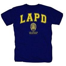 LoPD Lo New York Order Police USo Low Swot Fun slogan Porty 80s Foshion t-shirt da uomo