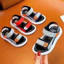 Baotou – sandales antidérapantes pour enfants, Version coréenne, semelle souple, Velcro, petits, moyens et grands garçons, chaussures de plage pour bébés