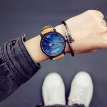 купить Korean Style Men Watch Fashion Simple Waterproof Retro Wrist Watch for Male Students Couple Creative Large Dial Quartz Clock New дешево