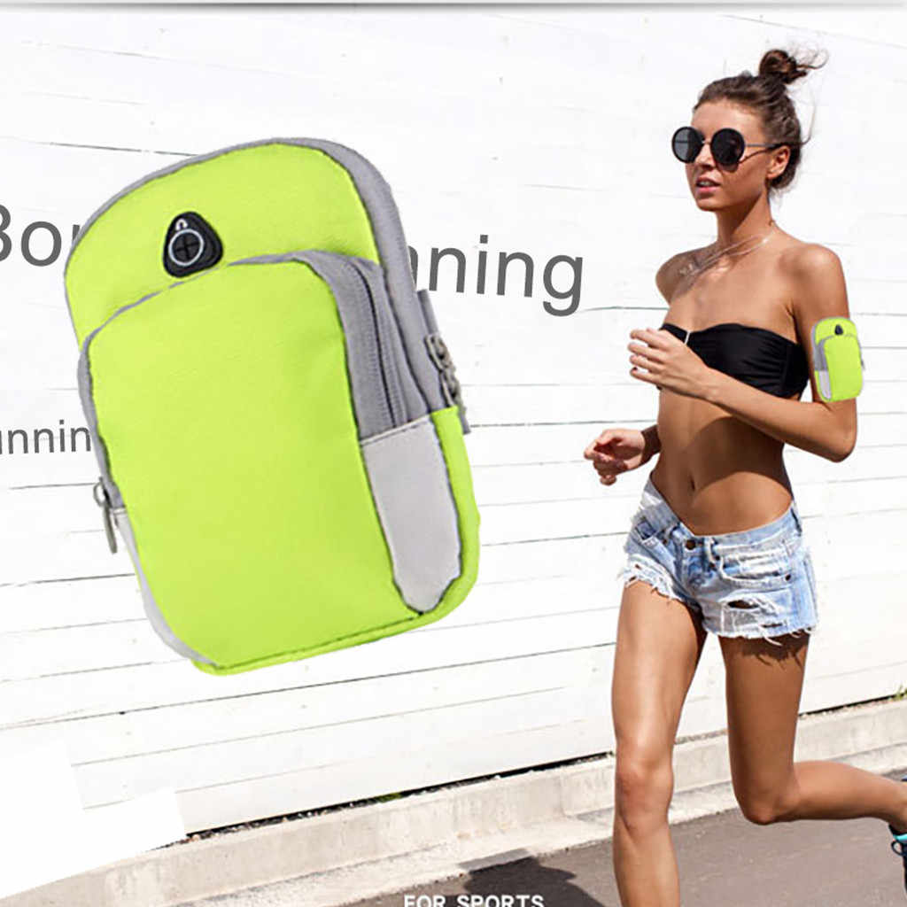 ספורט זרוע ריצה תיק חדר כושר תיק ריצה טלפון חיצוני עמיד למים ניילון סלולרי מחזיק עבור טיולים כושר ריצה אביזרי z2