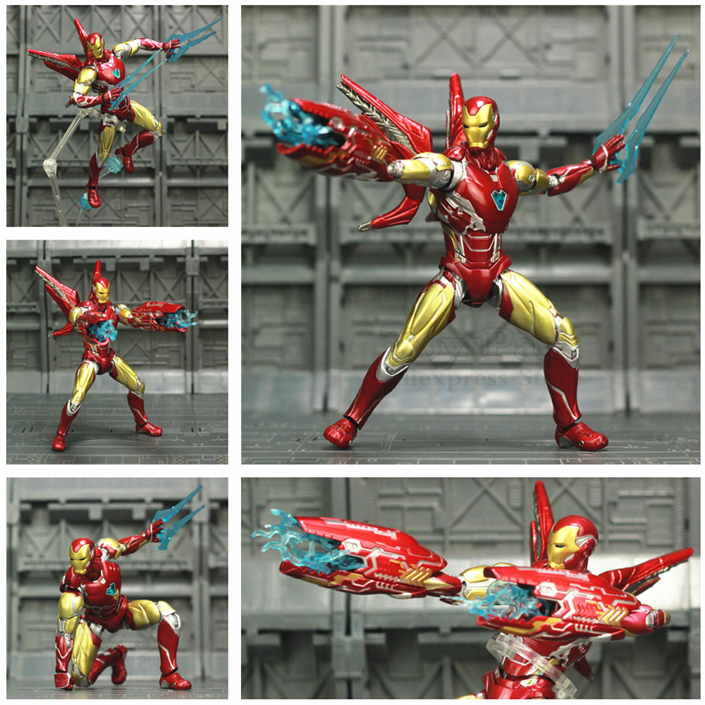 Marvel 2019 Avenger 4 Endgame Iron Man MK85 6 Action Figure Ironman Mark 85 Nano Suit Armour KO's SHF Tony Stark Legends Toys