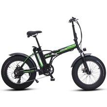 Электрический велосипед 20 дюймов ebike 48V500W Электрический горный велосипед электрический складной велосипед 4,0 fat tire bicicleta eletrica пляжный Электрический велосипед