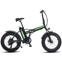 Electric bike 20 inch ebike 48V500W electric mountain bike electric folding bike  4.0 fat tire  bicicleta eletrica beach ebike|Electric Bicycle| |  -