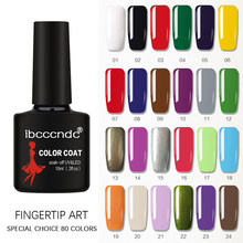 80 Solid Colors Fashion Gel Nail Varnish LED UV Nail Gel Polish Soak Off Long Lasting Nail Polish Lacquer 10ML Gelpolish 1-30(China)
