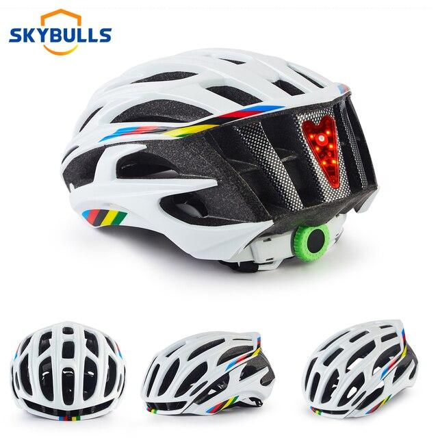 Skybulls estrada mountain bike capacete homem ultraleve casco mtb ciclismo capacete com led taillight esporte engrenagem segura ciclismo 1