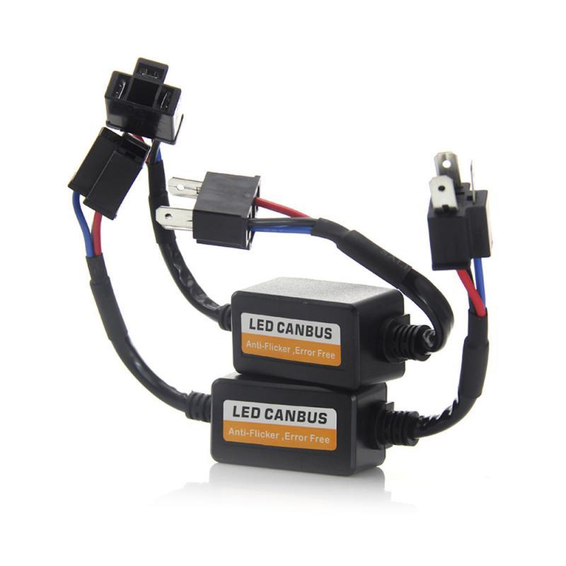 1 шт. H4 H7 светодиодный фар преобразователь can-шины компенсатор ошибок резистор анти-мерцание H1H4H7 декодер фары компенсатор автомобиль УП