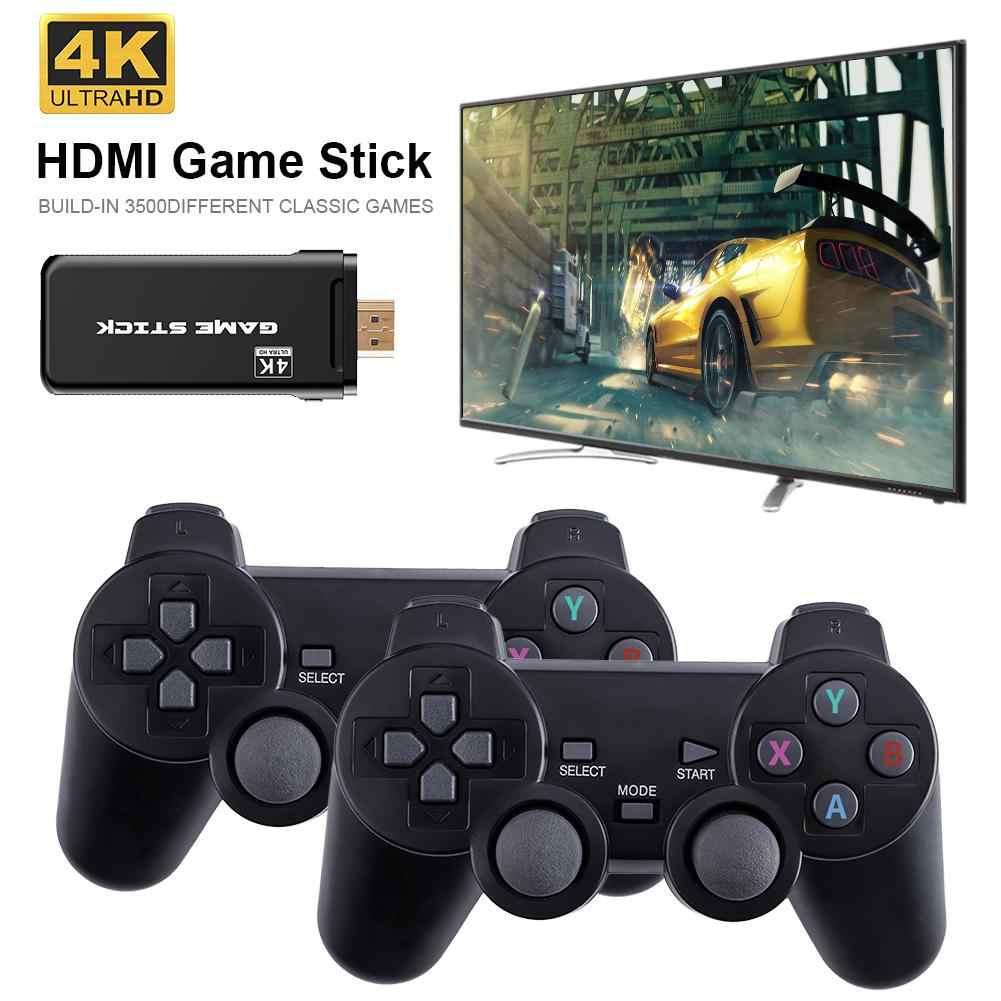 4K 3500 gry USB konsola bezprzewodowa klasyczna gra kij gra wideo konsoli 8 Bit Mini Retro kontroler wyjście HDMI podwójny odtwarzacz