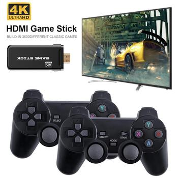 4K Games USB Wireless Console 3500 Classic Game Stick Video Game Console 8 Bit Mini Retro Controller HDMI Output Dual Player