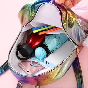 Image 5 - Symphony Mermaid Laser Backpack 3D Fish Scale Personality Fashion Backpack Cute Girl Child Cartoon Small School Bag GB17